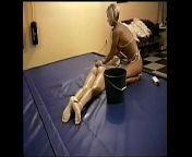 SLV 285 Wrestling, Shampoo, Headshave from breast wrestling