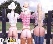 BANGBROS - On The Dude Ranch With Rachel Starr, Karen Fisher and Marissa from sri krishna mahabhart arjun karan yuddha madecal sex