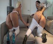 Mira & Lara! Facial Outdoor Police Doctor Big Butt High-Heel Compilation!!! from tyas mira