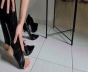 Latex stockings highheels from 7ysex